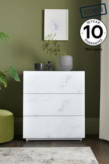 Sloane Marble 3 Drawer Chest
