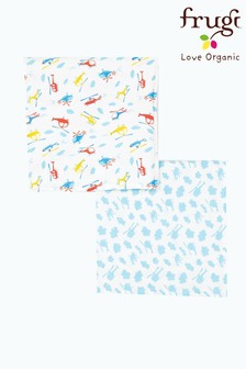Frugi GOTS Organic Muslins Two Pack In Helicopter Print