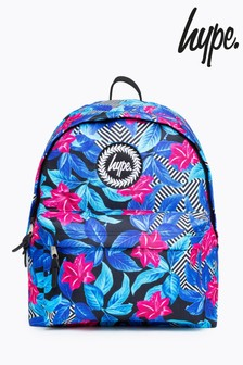 Hype. Blue Geo Floral Backpack