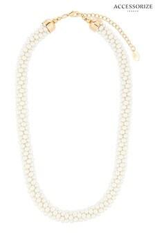Accessorize Cream Pearl Bobble Necklace
