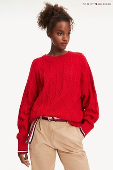 Tommy Hilfiger Red Essential Knot Sweater