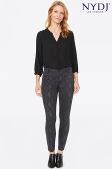 NYDJ Grey Ami Skinny Leg Tailored Trousers
