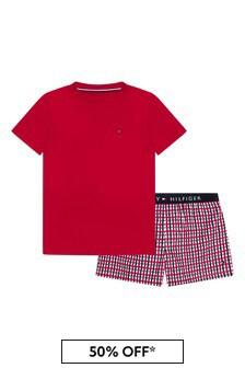 Tommy Hilfiger Boys Red Cotton Pyjamas