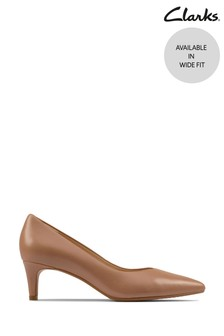 Clarks Praline Leather Laina55 Court2 Shoes