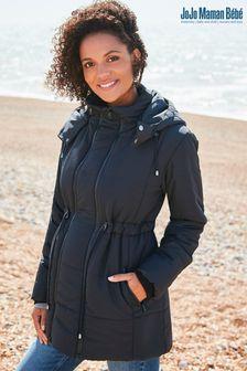 JoJo Maman Bébé Black 2-In-1 Padded Jacket