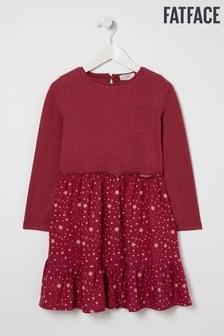 FatFace Red Olivia Star Print Dress