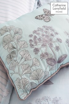 Catherine Lansfield Pink Floral Butterfly Cushion