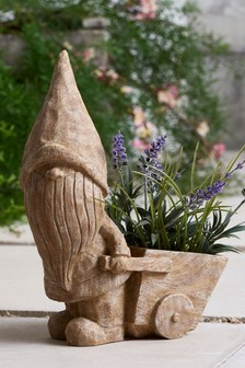 Gnome Wheelbarrow Plant Pot