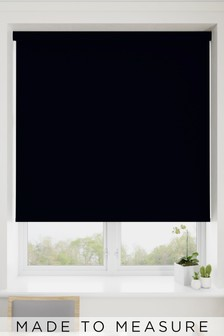 Haig Jet Black Made To Measure Blackout Roller Blind
