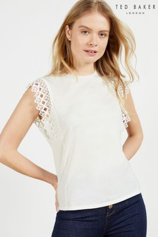 Ted Baker Ulayna Lace Sleeve Detail Top