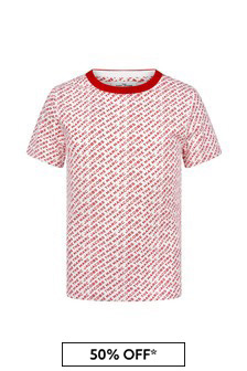 Marc Jacobs Boys Red Cotton T-Shirt