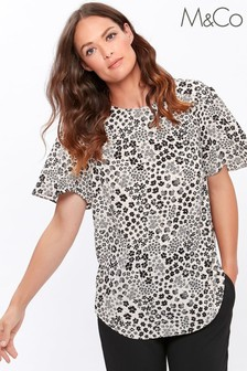 M&Co Cream Ditsy Angel Sleeve T-Shirt