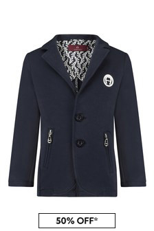 Aigner Boys Navy Cotton Jacket