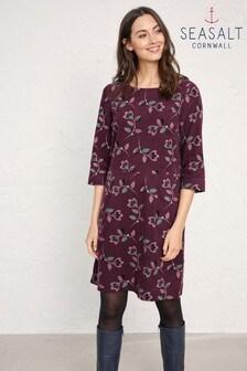 Seasalt Purple High Key Tulip Stem Merlot Dress