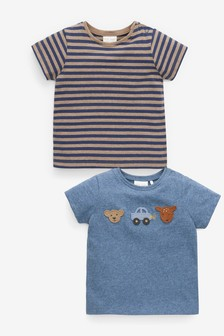 2 Pack Woodland Badge T-Shirts (0mths-2yrs)