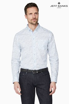 Jeff Banks Blue Floral Print Tailored Fit Casual Shirt