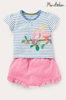 Boden Pink Jersey Short Set