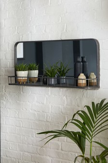 Large Hudson Mirror With Shelf