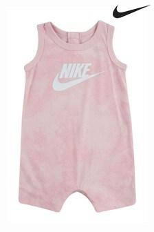 Nike Baby Pink Tie Dye Romper