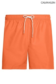 Calvin Klein Orange Logo Tape Medium Drawstring Trunks