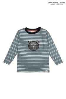 Turtledove London Steel Stripe Appliqué Top