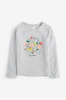 3D Floral Embroidered T-Shirt (3-16yrs)