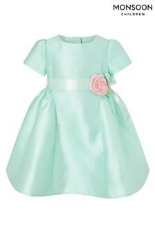 Monsoon Baby Mint Cynthia Cap Sleeve Dress