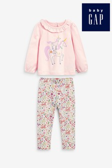 Gap Unicorn Print Top & Leggings Set
