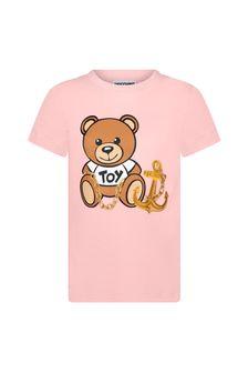 Moschino Kids Girls Cotton T-Shirt
