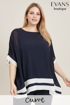 b7b21eac8ce Buy Women's tops Curve Curve Tops Evans Evans from the Next UK ...