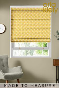 Woven Acorn Cup Dandelion Yellow Made To Measure Roman Blind by Orla Kiely