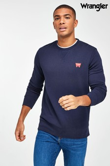 Wrangler Navy Sign Off Crew Neck Sweatshirt