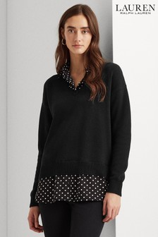 Lauren Ralph Lauren® Black 2 In 1 Mock Blouse Perdyta Jumper
