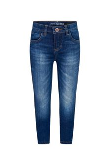 Guess Girls Blue Cotton Jeans