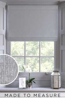 Silver Chenille Made to Measure Roman Blind