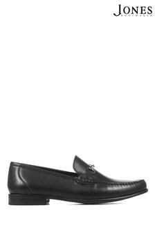 Jones Bootmaker Black Frederick Leather Men's Loafers
