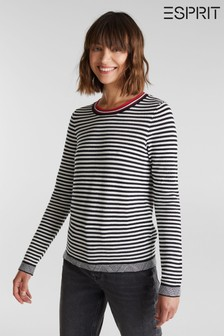 Esprit Black Striped Sweater