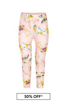 Molo Girls Pink Cotton Leggings