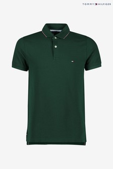 Tommy Hilfiger Green Structured Slim Polo