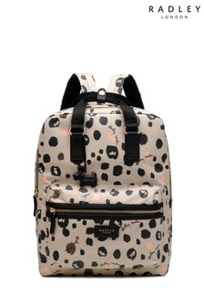 Radley Natural London Bubble Dog Large Zip Around Backpack