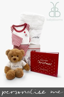 Babyblooms Personalised Baby's First Christmas Charlie Bear Festive Bedtime Set