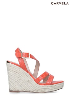 Carvela Orange Summer Sandals