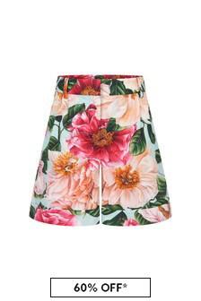 Dolce & Gabbana Kids Dolce & Gabbana Girls Pink Cotton Shorts