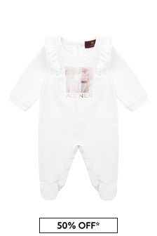 Aigner Baby Girls Pink Cotton Babygrow