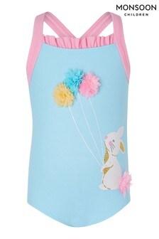 Monsoon Blue Baby Bunny 3D Flower Swimsuit