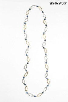 White Stuff Grey Stationed Oval Stone Necklace