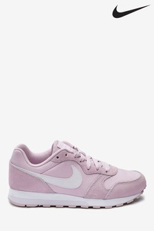 Nike White/Pink MD Runner Youth Trainers