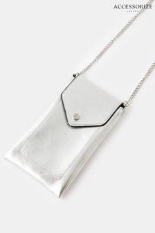 Accessorize Silver Phone Pouch
