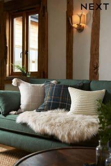 Natural Bobble Small Square Cushion