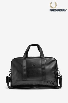 Fred Perry Black Embossed Holdall Bag